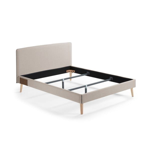 Lydia bézs kétszemélyes ágy, 200 x 160 cm - La Forma