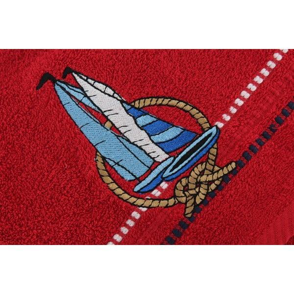 Sada 2 červených ručníků Marina Yelken, 50 x 90 cm