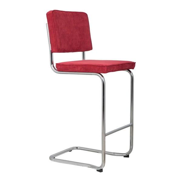Červená barová židle Zuiver Ridge Kink Rib
