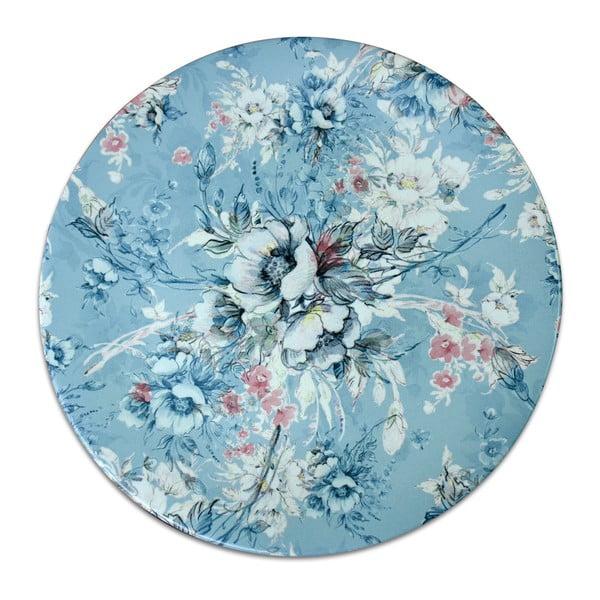 Farfurie din ceramică Flowers, ⌀ 26 cm, albastru