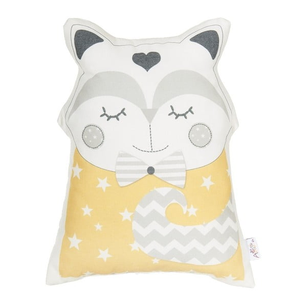 Pernă decorativă Apolena Pillow Toy Smart Cat, 23 x 33 cm, galben