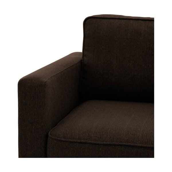Canapea cu 3 locuri Vivonia Sorio, maro închis