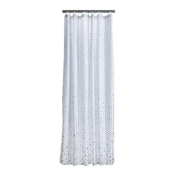 Drops fehér zuhanyfüggöny szürke részletekkel - Zone