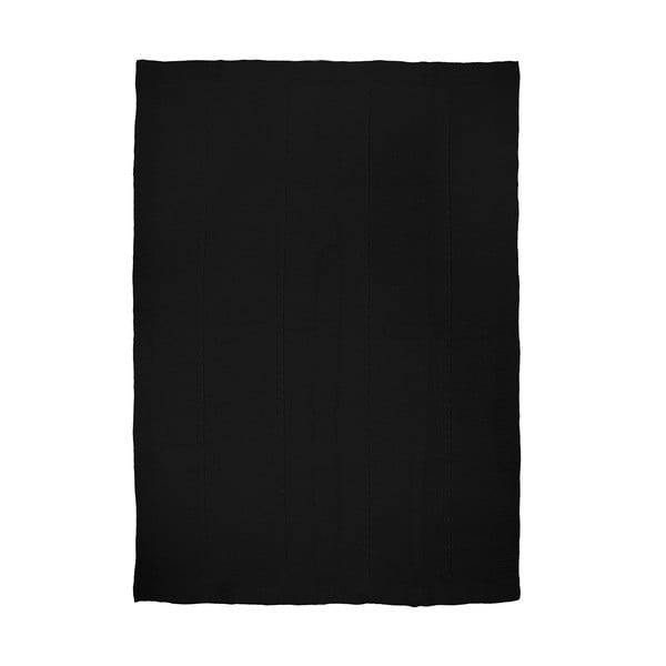 Pletená deka Fancy Black, 130x170 cm