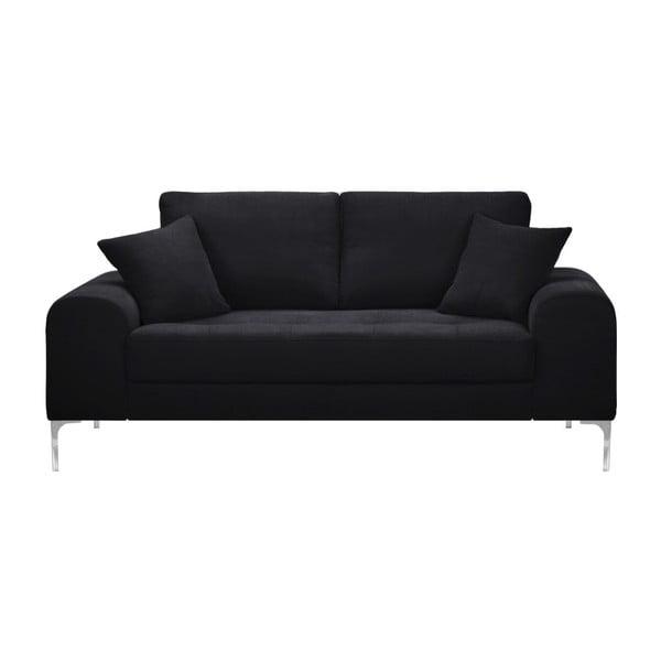 Set canapea neagră,, 2 scaune gri, o saltea 140 x 200 cm Home Essentials