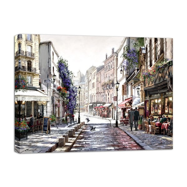 Obraz Styler Canvas Watercolor Paris II, 75 x 100 cm