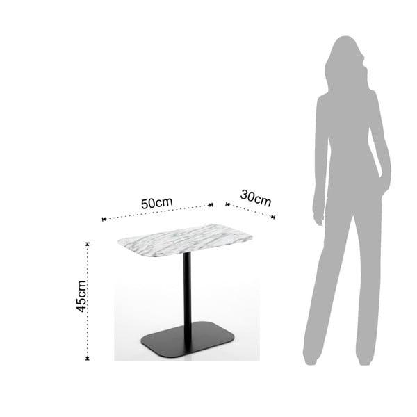 Černý konferenční stolek s mramorovou deskou Tomasucci Imperial