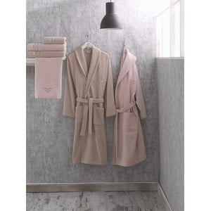 Set 2 bavlněných županů a 4 ručníků z edice Marie Claire Azalee