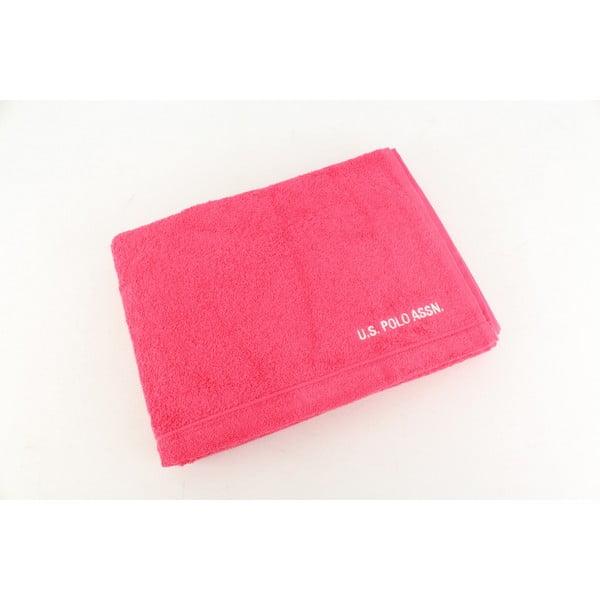Růžová osuška U.S. Polo Assn. Bath, 70x140cm