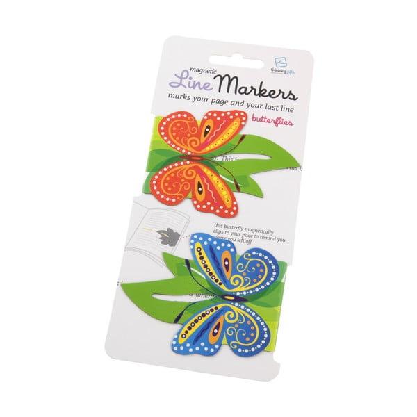 Zakładka do książki wskazująca ostatnie zdanie Thinking gifts Butterflies