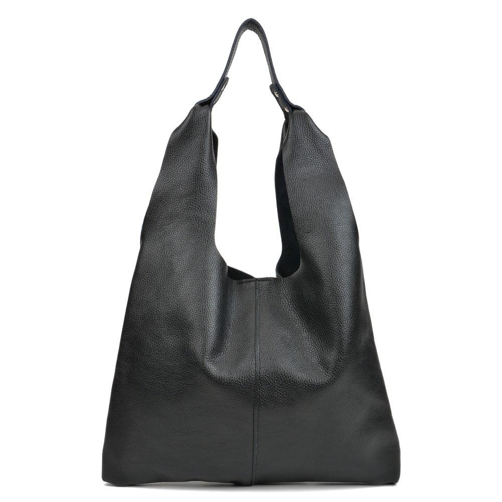 Černá kožená kabelka Sofia Cardoni Hobo