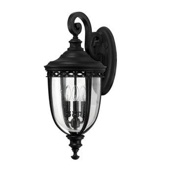 Aplică perete Elstead Lighting English Bridle Tres Black, negru