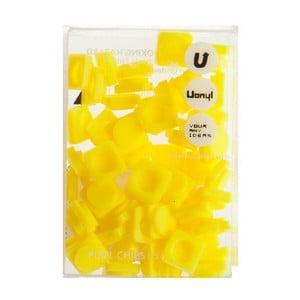 Sada 60 malých pixelů, banana yellow