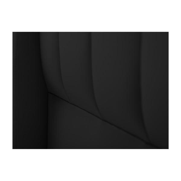 Černé čelo postele Cosmopolitan design Dallas, 180x120cm