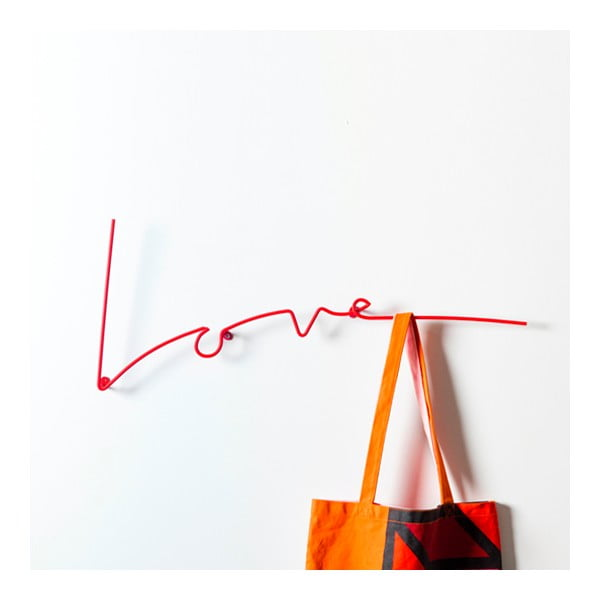 Věšák Love Coat, červený