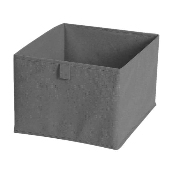 Šedý textilní úložný box JOCCA, 28x28cm