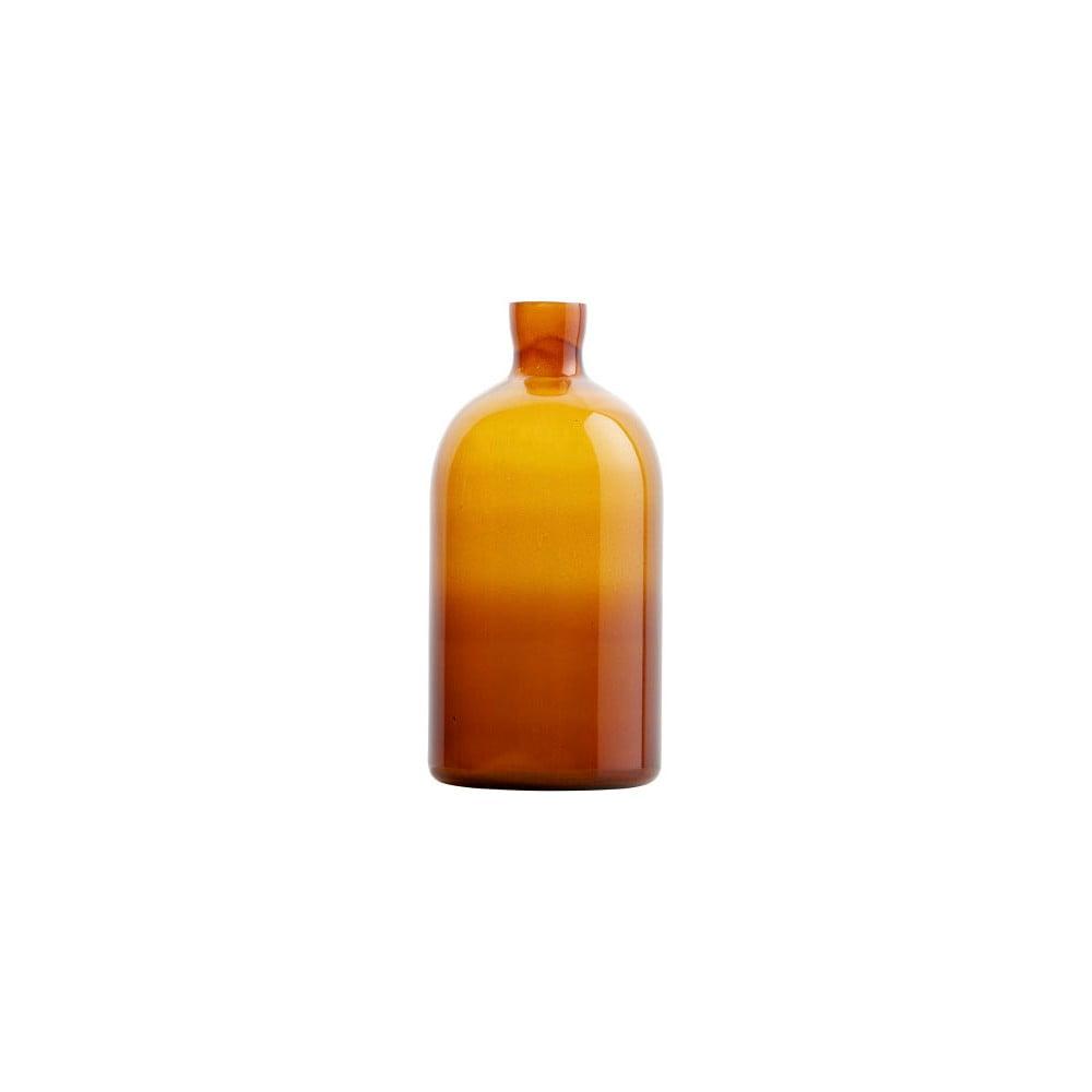 Fotografie Tmavě oranžová skleněná váza De Eekhoorn Chemistry, výška30cm