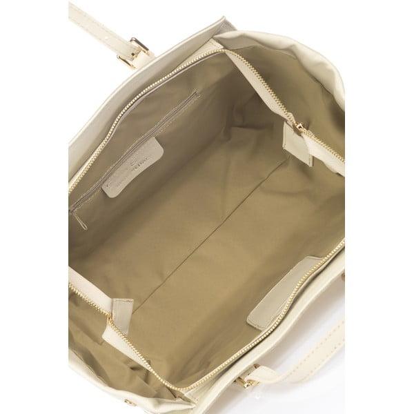 Kožená kabelka Bravisa, bílá