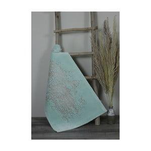 Světle modrá bavlněná koupelnová předložka My Home Plus Sensation, 60 x 60 cm