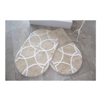 Set 3 covorașe de baie Confetti Bathmats Bonne, maro imagine