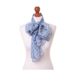Šátek Pastel Scottie Blue, 180x32 cm