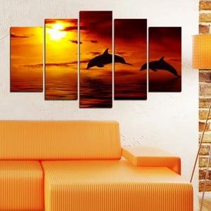 5dílný obraz Západ slunce