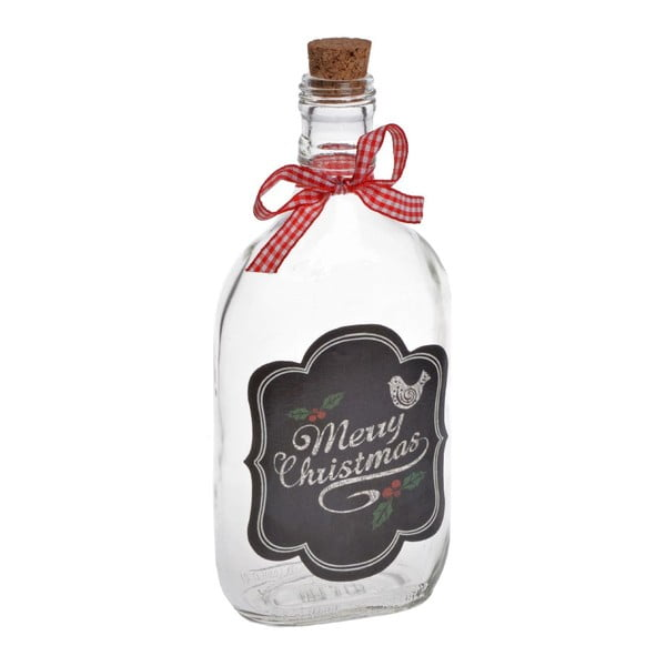 Skleněná lahev Merry Chistmas Medium