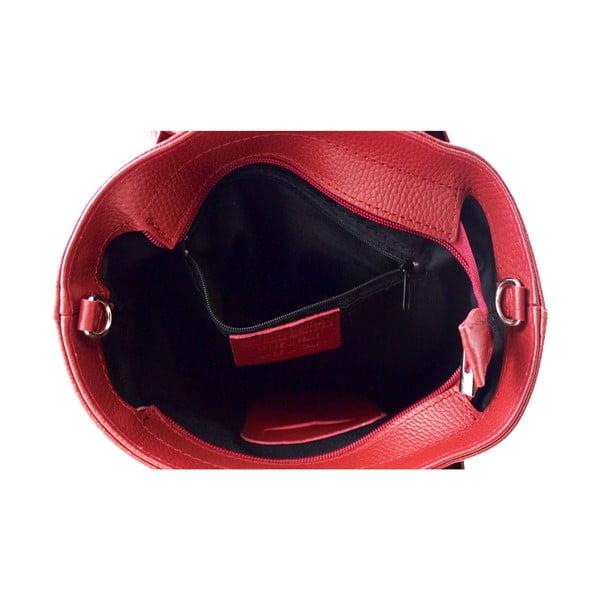 Kožená kabelka Malgorata Rosso