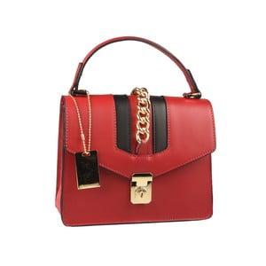 Červená kožená kabelka Matilde Costa Dabay