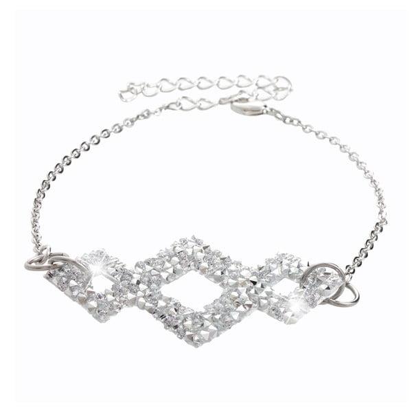 Náramek ve stříbrné barvě s krystaly Swarovski® Yasmine Frederikke