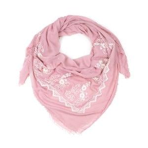 Růžový šátek Art of Polo Laura
