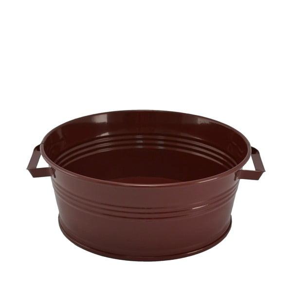 Kovový kbelík s uchy Kovotvar, 10x27 cm, vínový