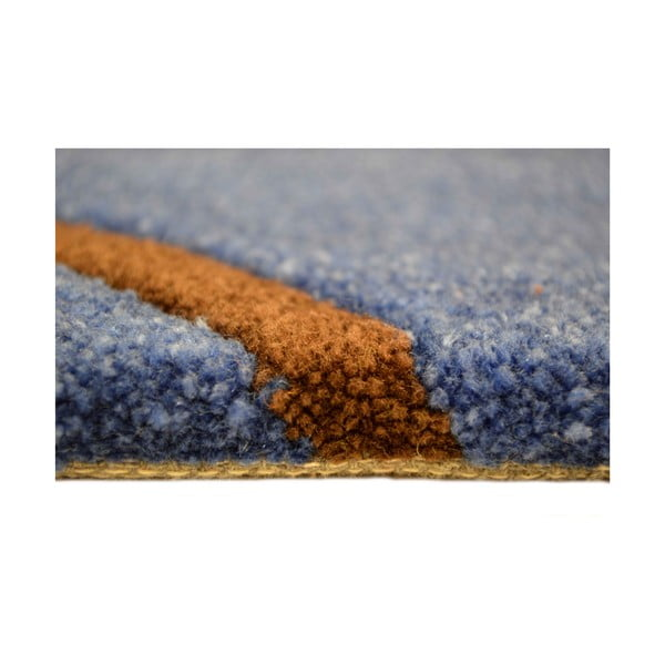 Ručně tkaný koberec Pluto, 200x300 cm, modrý