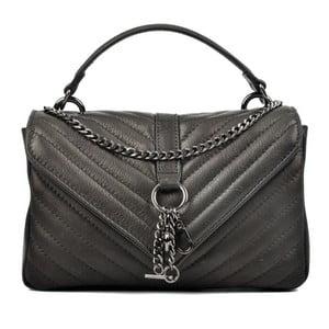 Černá kožená kabelka Carla Ferreri Tatum