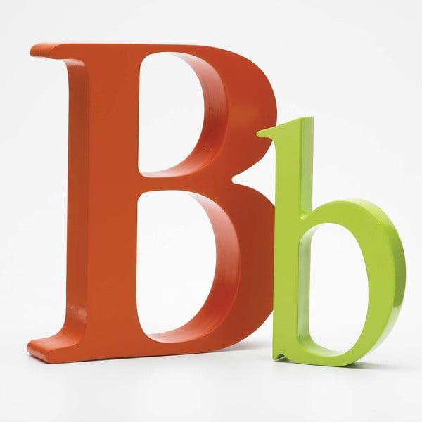 """Velké """"B"""" 17x14 cm, oranžová"""