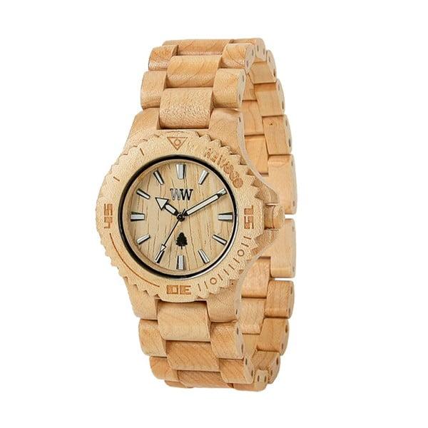 Dřevěné hodinky Date Beige