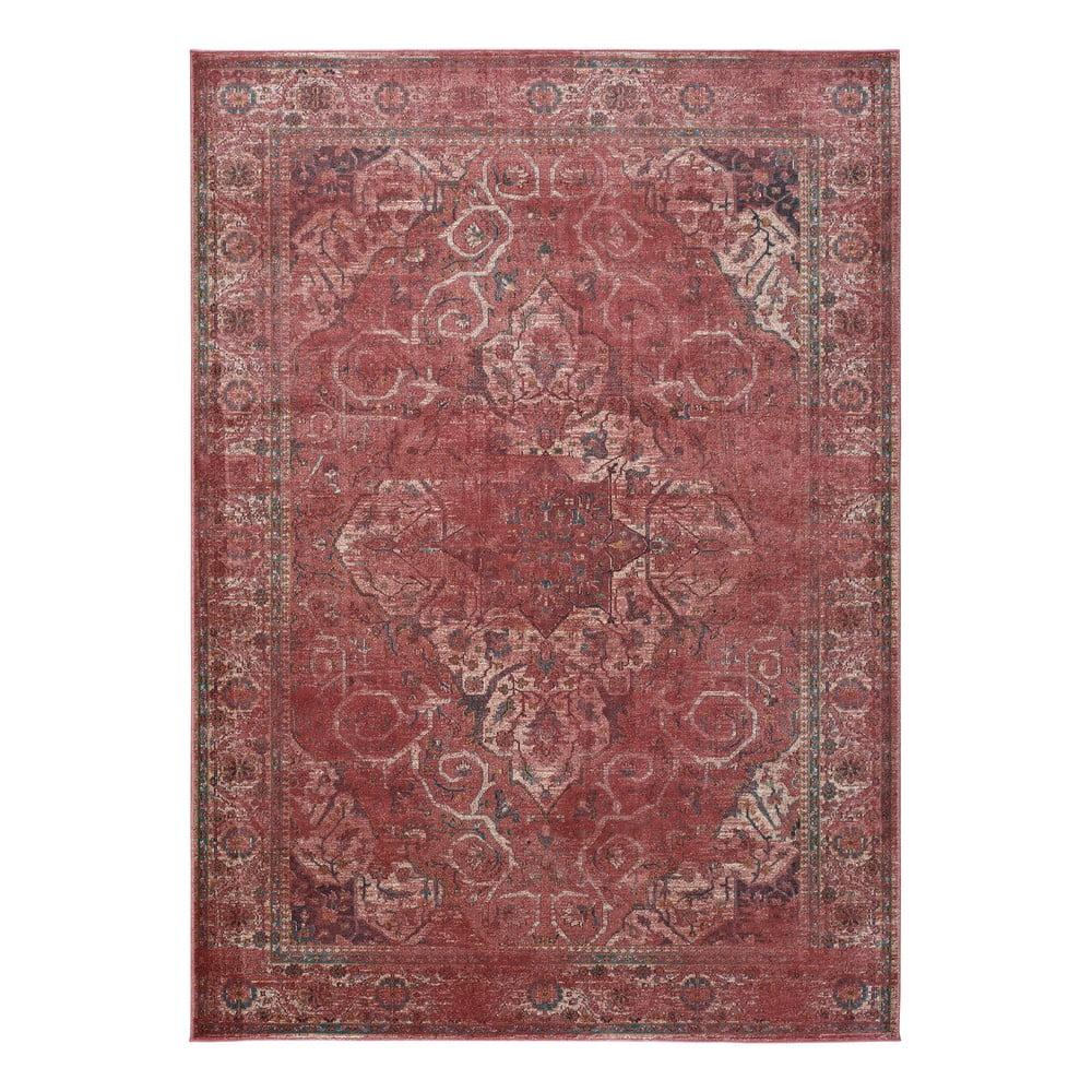 Červený koberec z viskózy Universal Lara Rust, 120x170cm