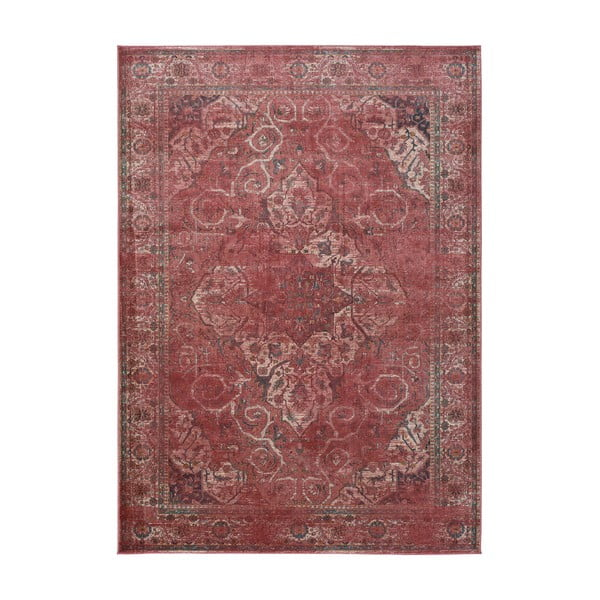 Červený koberec z viskózy Universal Lara Rust, 60x110cm
