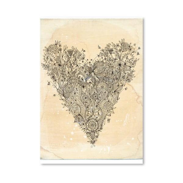 Plakát Love Art Print, 30x42 cm