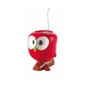 Červený odpařovač na radiátor s květináčem e-my