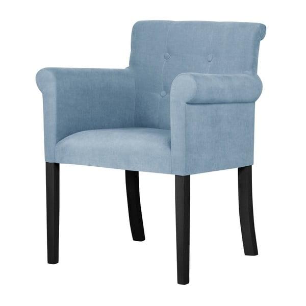 Flacon világoskék bükkfa szék, fekete lábakkal - Ted Lapidus Maison