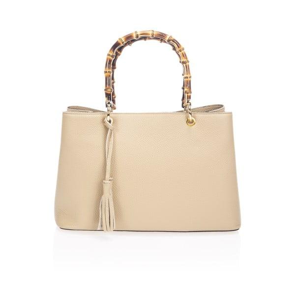 Béžová kožená kabelka Markese Tamsin