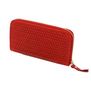 Červená peněženka z pravé kůže Andrea Cardone Cahlia