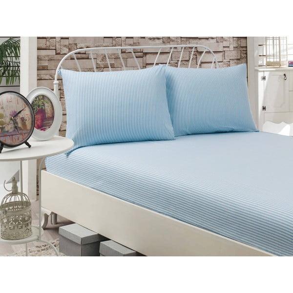 Prostěradlo Cizgili Blue, 160x200 cm
