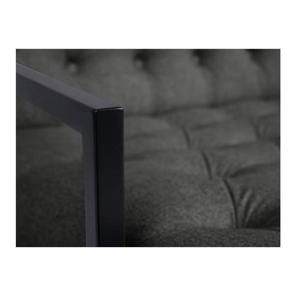 Tmavě šedé křeslo Mazzini Sofas Aster
