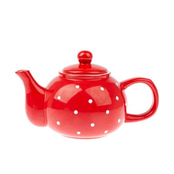 Ceainic din ceramică Dakls Dots, 1 l, roșu de la Dakls