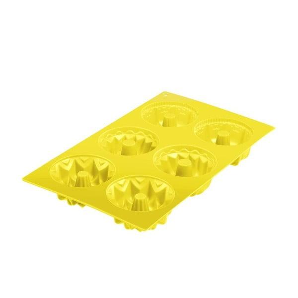 Silikonová forma na bábovičky Cakes, žlutá