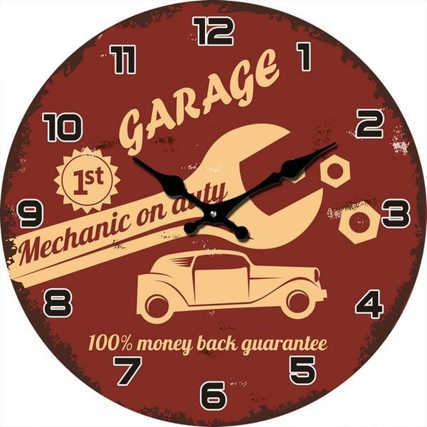 Skleněné hodiny Mechanik, 38 cm