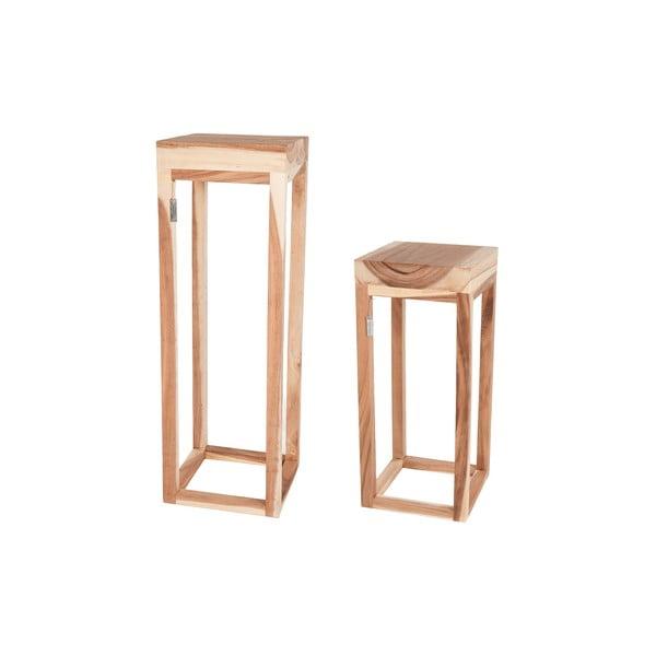 Sada 2 dřevěných stolků Dijk Natural Collections Sivert