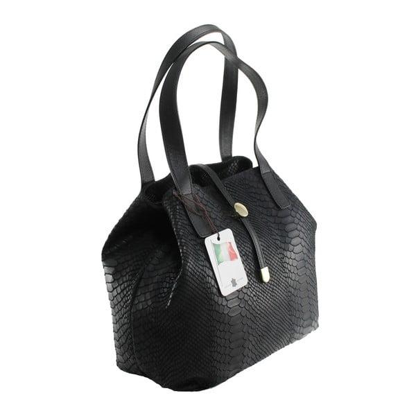 Černá kožená kabelka Giulia